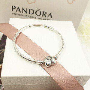 PANDORA潘多拉Moments 590719心形扣925银女士手链