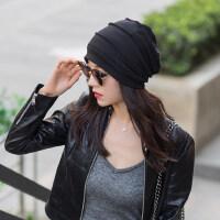 帽子女韩版潮时尚百搭包头堆堆帽春秋时尚月子帽