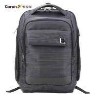 卡拉羊双肩包商务电脑背包休闲大学生书包韩版电脑双肩包CS5746