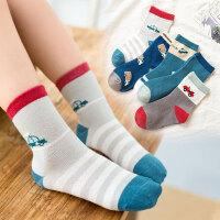 儿童袜子时尚纯棉秋冬厚款女童男童新生儿宝宝棉袜婴儿中筒毛圈袜冬季