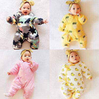 20180507232504178女婴儿连体衣冬季加厚宝宝外出抱衣服秋冬装新生儿外套装棉衣0岁1 发货周期:一般在付款后2-90天左右发货,具体发货时间请以与客服协商的时间为准