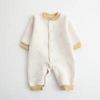 婴儿连体衣服棉衣宝宝6新生儿哈衣保暖春装冬季睡衣01岁