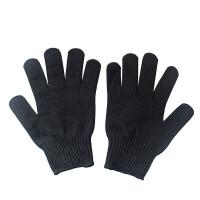 安全防割手套 5级钢丝防护防刺手套 野外防利刃玻璃划伤战术手套工作劳保用品 黑色