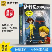 现货正版 神秘案件 英文原版 A to Z Mysteries Collection 1- 4个故事合辑 儿童初级章节