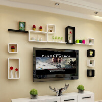 电视背景墙装饰架墙壁挂隔板客厅创意墙柜墙上置物架墙面格子沙发