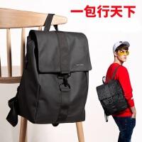 时尚旅行双肩包韩版高中学生书包大容量男士双肩包 休闲潮流青年简约背包