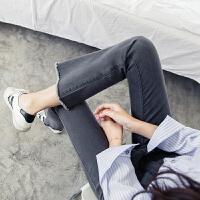 微喇叭牛仔裤女春秋季2018新款潮宽松百搭韩版学生秋装流苏阔腿裤