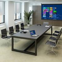 会议桌长条桌老板桌培训洽谈简约现代职员办公桌长桌办公家具定制