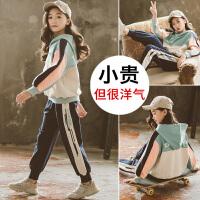 女童运动套装春装儿童春季卫衣春秋中大童童装