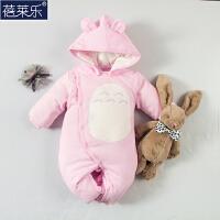 20180427103344432婴儿连体衣服新生儿衣服冬季0岁3月冬装冬季棉衣满月外出服