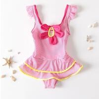 儿童游泳衣女孩可爱连体泳装分体比基尼公主蕾丝裙大中小女童泳衣