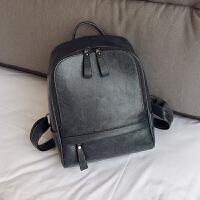 新款韩版复古英伦双肩包女包百搭校园书包中学生包休闲PU背包