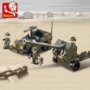 【当当自营】小鲁班陆军部队军事系列儿童益智拼装积木玩具 高射炮M38-B5900