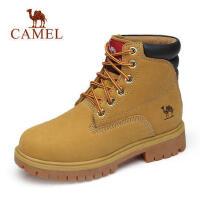 骆驼新款男鞋时尚高帮工装女款靴 牛皮潮情侣款马丁靴男靴子