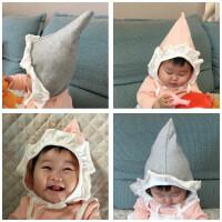 婴儿帽子秋冬纯棉0-3-6-9个月7女童花边帽春夏新生儿公主帽宝宝潮