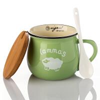 杯子陶瓷情侣马克杯个性咖啡带盖水杯勺早餐家用杯子支持定做logo
