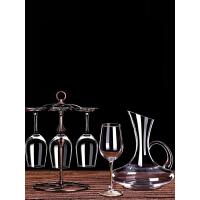 红酒杯套装家用醒酒器欧式大号玻璃6只装葡萄酒杯架高脚杯酒具2个s5c