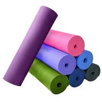 3mm便携式可折叠瑜伽垫瑜珈毯运动健身无味初学者瑜伽垫子(蓝色)