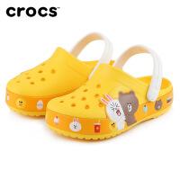 【领券下单立减100】Crocs儿童男女童凉鞋2020新款趣味学院linefriends洞洞鞋|206028 趣味学院