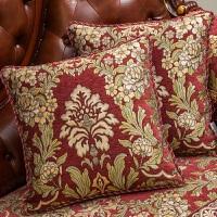 美式沙发靠垫抱枕套含芯 欧式大靠背枕头
