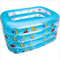 1.1米4层泳池夏乐四层方形婴儿游泳池宝宝游泳池游泳池套装儿童宝宝充气游泳池洗澡泳池新生儿
