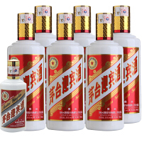 【酒界网】 贵州茅台 53度 茅台迎宾 500ml(新包装)* 6瓶 + 43度 茅台迎宾200ml  白酒