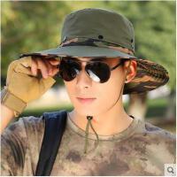 夏天大沿防紫外线遮阳防晒户外帽子渔夫帽大檐帽太阳帽钓鱼帽男