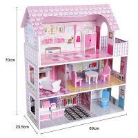 diy木制小屋女孩生日礼物过家家玩具房子别墅儿童玩具木质娃娃屋