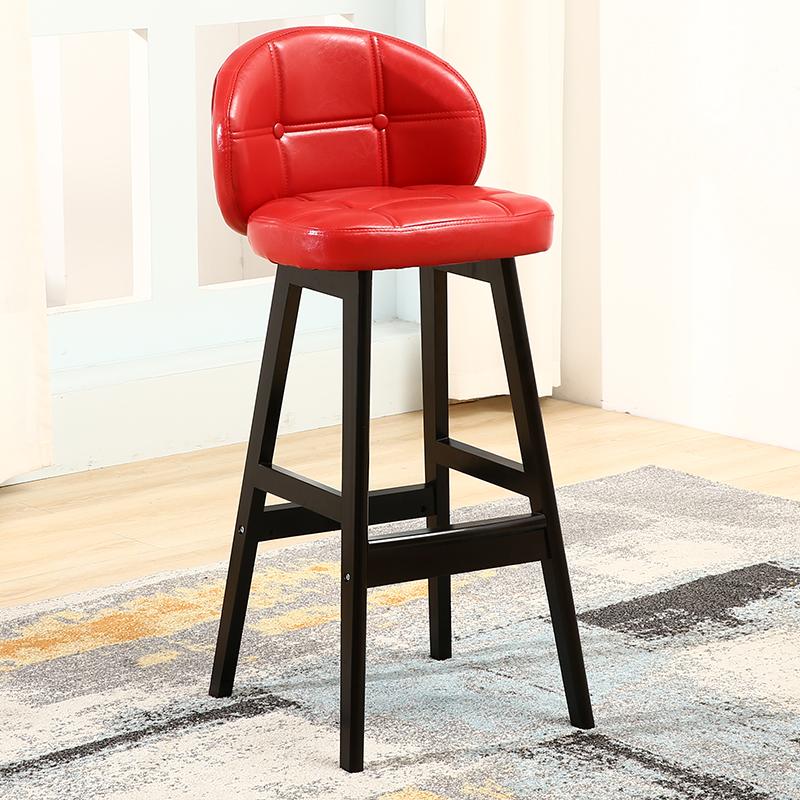 吧台椅家用实木高脚凳升降椅子前台吧凳现代简约吧椅酒吧靠背凳子 品质保证,售后无忧!部分商品为定制定金价格,偏远地区运费及发货情况请咨询客服,私