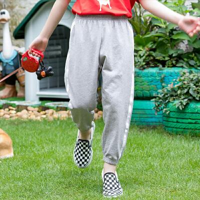 【3件3折到手价:46】小猪班纳童装女童防蚊裤2020夏季男童儿童长裤薄款休闲裤女孩裤子