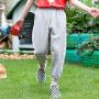 【2件3折价:43】小猪班纳童装女童防蚊裤2019夏季新款儿童长裤薄款休闲裤女孩裤子
