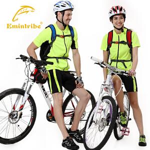 渔民部落户外男女时尚舒适骑行款撞色短袖套装