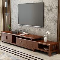 实木电视柜北欧简约客厅可伸缩卧室储物地柜影视柜收纳柜610#款 组装