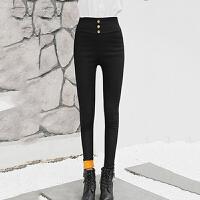 打底裤 女士加绒打底裤2020冬季女式加厚高腰小脚棉裤学生时尚外穿铅笔裤