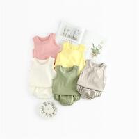 女童夏装婴儿背心套装6婴幼儿4新生儿12满月衣服0-3个月1岁女宝宝