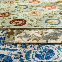 奇居良品 印度客厅茶几卧室羊毛地毯 麦田MAY-07