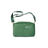斜挎包女 百搭 校园 休闲旅行包 方盒型手提包 收纳包 绿色不含小包独立