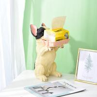 公司前台迎宾狗狗糖果收纳盒办公室装饰品摆件创意动物杂物置物筐