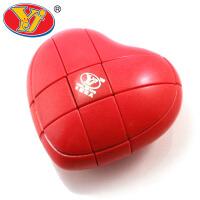 永骏 心形魔方三阶 YJ02173阶比赛专用益智玩具异形减压玩具爱情魔方红色情人节求爱创意节日礼物 当当自营