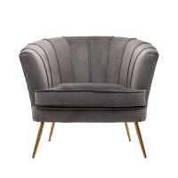 单人沙发北欧轻奢小户型美式布艺客厅阳台卧室现代简约休闲老虎椅