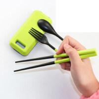 户外餐具筷子组合 户外折叠餐具三件套旅行套装筷子叉勺