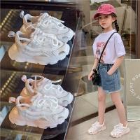 女童运动鞋夏季儿童网面镂空老爹鞋男童中大童凉鞋