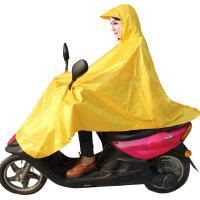 龙豹 LB3887 无透明膜电动车摩托车加厚加长雨衣雨披大帽檐