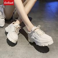 【限时特价包邮】Coolmuch女跑鞋2019新款百搭厚底耐磨防滑女生运动休闲慢跑鞋KM1A02