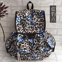 双肩包 旅行尼龙包 时尚绚丽书包 实用妈咪包 天蓝色 蓝豹点