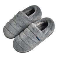 棉拖鞋男冬季大码男士包跟室内毛绒厚底毛拖鞋保暖居家棉鞋女家居