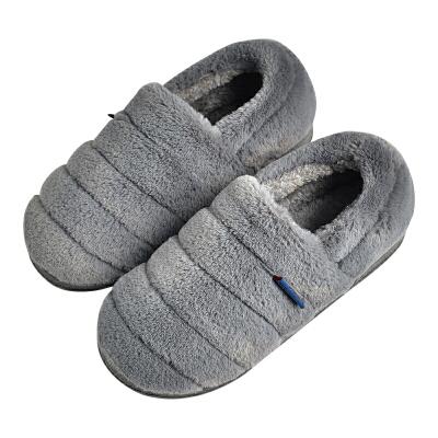 棉拖鞋男冬季大码男士包跟室内毛绒厚底毛拖鞋保暖居家棉鞋女家居 品质保证 售后无忧 支持货到付款