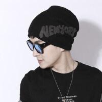 帽子男加厚保暖棉帽男士韩版潮青年防寒针织套头帽毛线帽