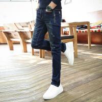 春秋款牛仔裤男青少年弹力小脚裤潮春季男士牛仔裤韩版修身长裤子