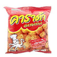 泰国进口 卡啦哒 Carada 加油啦鱿鱼味米球(膨化食品)17g